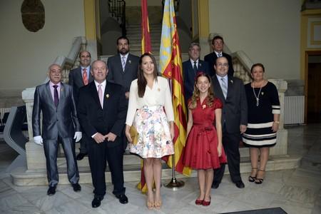 La Federació Junta Fallera de Sagunt, present en els actes commemoratius del 9 d'Octubre