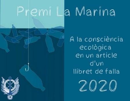 """Premio """"La Marina""""  de la A. C. Falla La Marina del Puerto Sagunto a la consciencia ecológica en un artículo de llibret de falla 2020"""