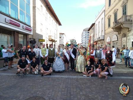 La delegació oficial de la Federació Junta Fallera de Sagunt gaudeix de la Targa Cecina 2017