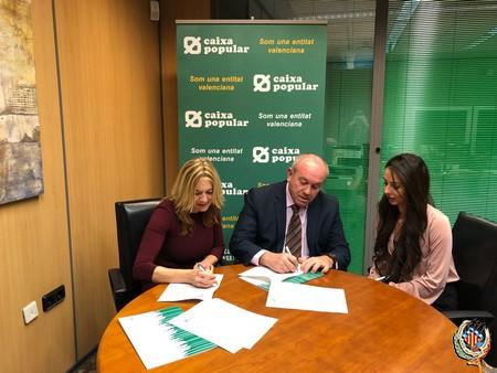 La Federació Junta Fallera de Sagunt i Caixa Popular signen un conveni de col·laboració