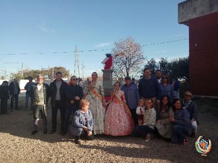 AFACAM planta la seua falla dedicada al patrimoni saguntí