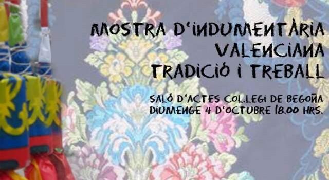La Falla Plaça Rodrigo acull una exposició d'indumentària valenciana.  Diumenge 18 hores desfilada en el Teatre Begonya