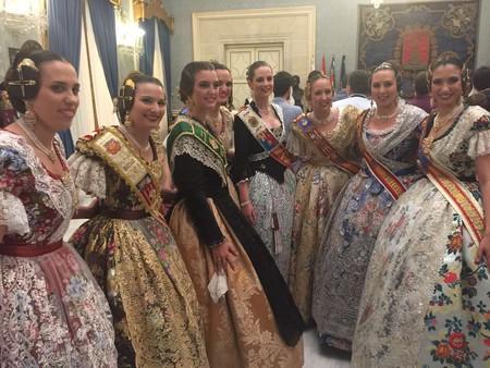 Les Falleres Majors assisteixen a les proclamacions de las Belleses del Foc d' Alacant