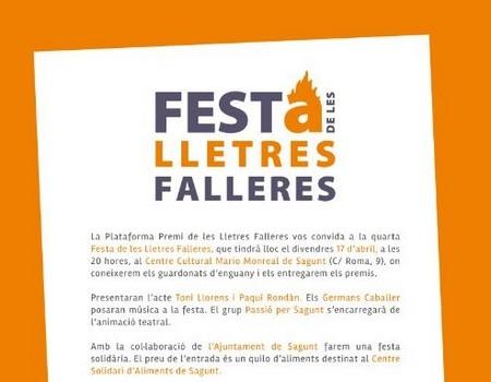 Festa de les Lletres Falleres