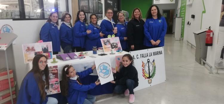 """La A.C. Falla La Marina en """" Mercado Solidario"""" de Leroy Merlín Sagunto"""