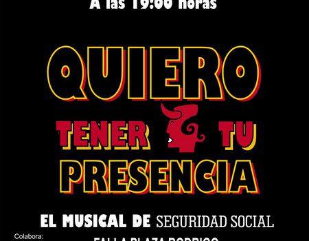 """QUIERO TENER TU PRESENCIA"", el musical benèfic de la A.C. Falla Plaça Rodrigo"