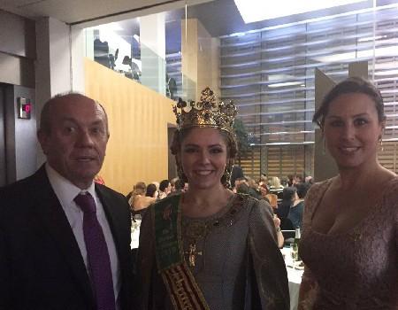 Beatriz Alós present en l'exaltació de Na Violant d'Hongria