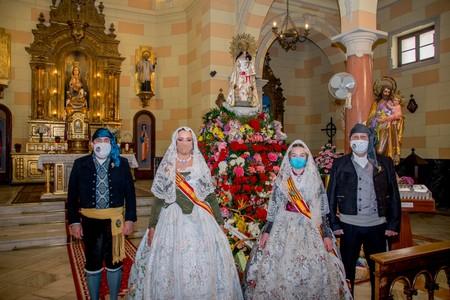 Les falleres majors de Federació ofrenen en un nou Sant Josep sense falles