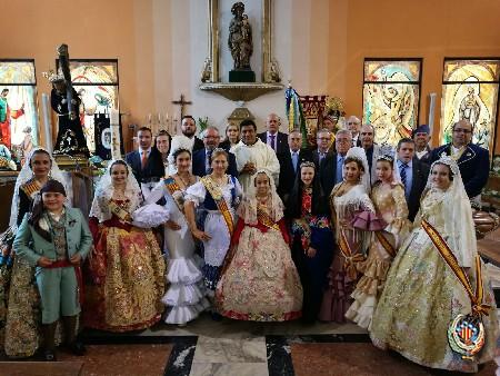 Las Falleras Mayores acuden a los actos en honor a San Jorge