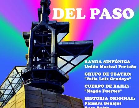 La falla Luis Cendoya, la Unión Musical Porteña y Aescena representarán el espectáculo «A través del paso»