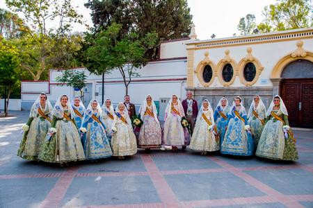 Las Falleras Mayores, Paula e Inés participan en los actos finales de las fiestas de Puerto de Sagunto