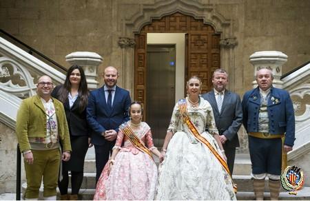 Les Falleres Majors visiten les Corts Valencianes i la Diputació de València