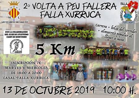 La Falla Xurruca-Hispanitat celebra la II Volta a Peu Fallera 5K