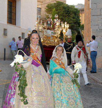 Les Falleres Majors participen en els últims actes de les festes de Sagunt